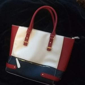 Charming Charlie's red, white and blue handbag